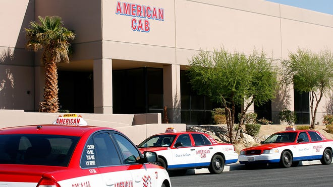 This Desert Sun file photo shows the American Cab office. SunLine Transit Agency has suspended American Cab and is referring customers to other area cab companies for service.
