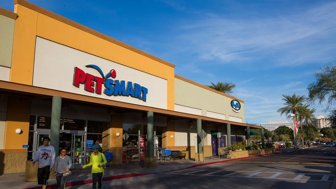 The central Phoenix Petsmart can be seen on the corner of 16th Street and Camelback Road on Dec. 14, 2014, in Phoenix.