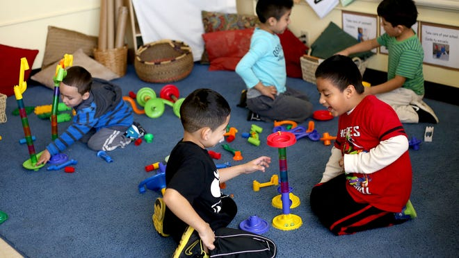 Children play during free time Wednesday, Feb. 4, at Bethel Head Start in Salem.