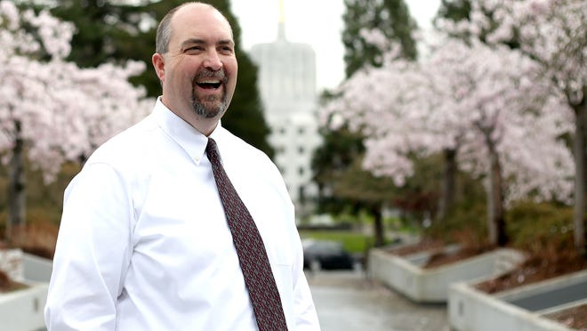 George Naughton is serving as the interim Director of the Oregon Department of Administrative Services, as well as his position as the Chief Financial Officer. Photographed at the DAS offices in Salem on Friday, March 13, 2015.