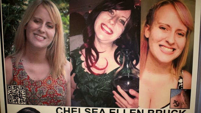 Chelsea Bruck, 22, was last seen Oct. 26 at a party in Frenchtown Township. Fliers with her picture are being sent across the country.