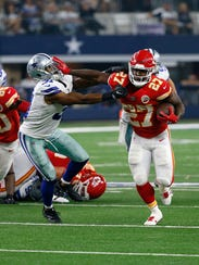 Chiefs rookie running back Kareem Hunt has gained 873