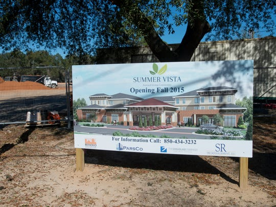 Construction on Summer Vista, an assisted living facility in Pensacola, continues without the proposed property tax exemption. The tax break for the project has been rejected by Escambia County property appraiser's office.