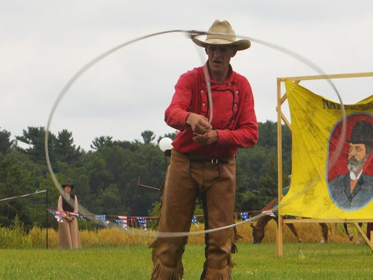 Rope tricks are one skill of many performed by reenactors