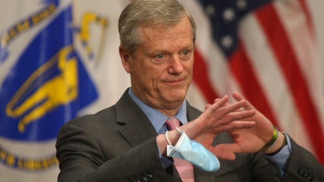 "Gov. Charlie Baker's new budget proposal would increase state spending while using one-time revenue and an infusion from the rainy day fund to cope with a major drop in tax collections. ""Pretty neat trick, huh?"" the governor said Wednesday."