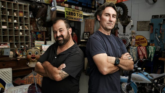 Pictured are Mike Wolfe and Frank Fritz of American Pickers.