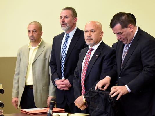 Torres, Hanlon, Mania, Mowaswes arraignment