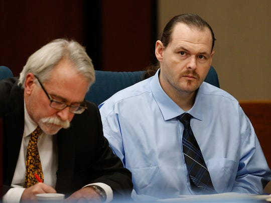 William Geoffrey Thacker, right, is accused of kidnapping