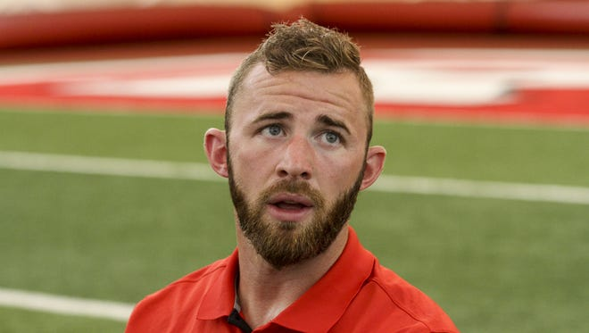 Offensive coordinator/ quarterbacks coach Drew Mehringer at Rutgers football media day in Piscataway  on Aug. 14, 2016.