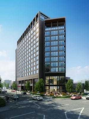 A new rendering of Virgin Hotels Nashville for which groundbreaking is planned this spring.