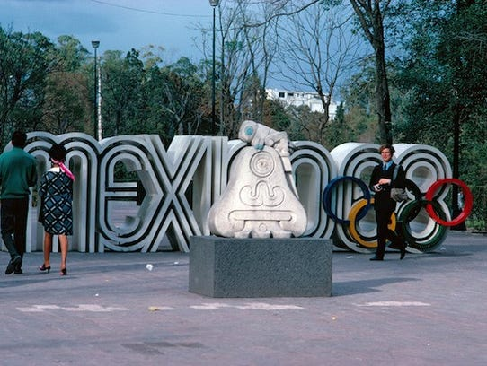 The logo for the 1968 Mexico City Olympics.