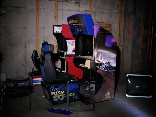 Some 1980s arcade games with the electronics picked