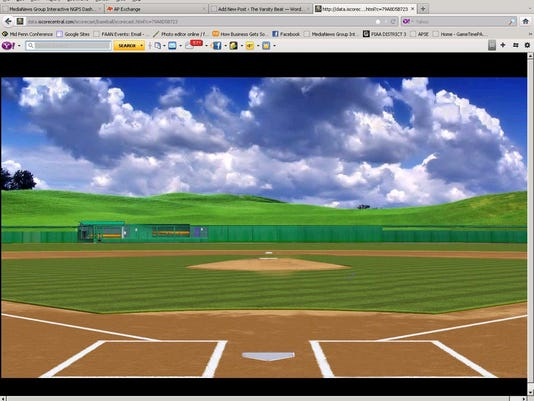 Follow pitch-by-pitch updates from the YAIAA baseball tournament championship game. The screen will look like this, with animated pitches throughout the game.