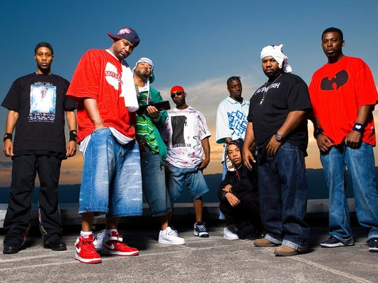 Rappers Ghostface Killah and Raekwon of Wu-Tang Clan perform today at the Ink Life Tour.