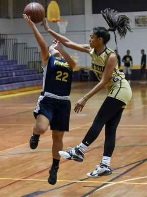 The Tiyan High Titans played the Guam High Panthers in an Independent Interscholastic Athletic Association of Guam Girls' Basketball League game at George Washington High School on Dec. 9.
