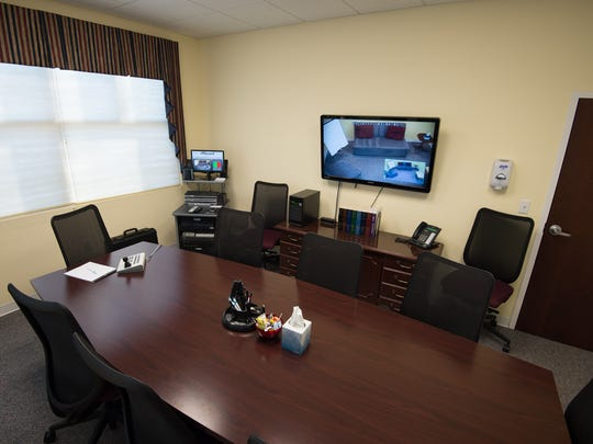 View of the meeting room for law enforcement located at the Children's Advocacy Center of Delaware in Dover.