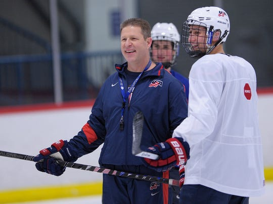 Danton Cole coached in the USA Hockey National Team Development Program from 2010 until he was named MSU's new coach.