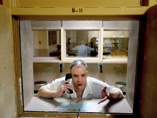 In this Friday, March 18, 2016 photo. inmate Brad Dunn