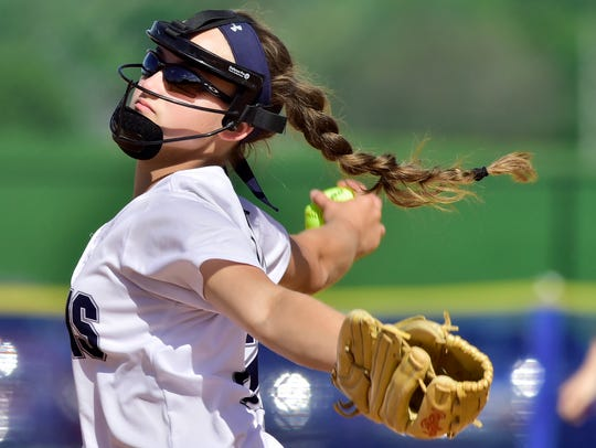 Chambersburg pitcher Mackenzie Stake has her Trojans positioned as #1 in District 3 6A.