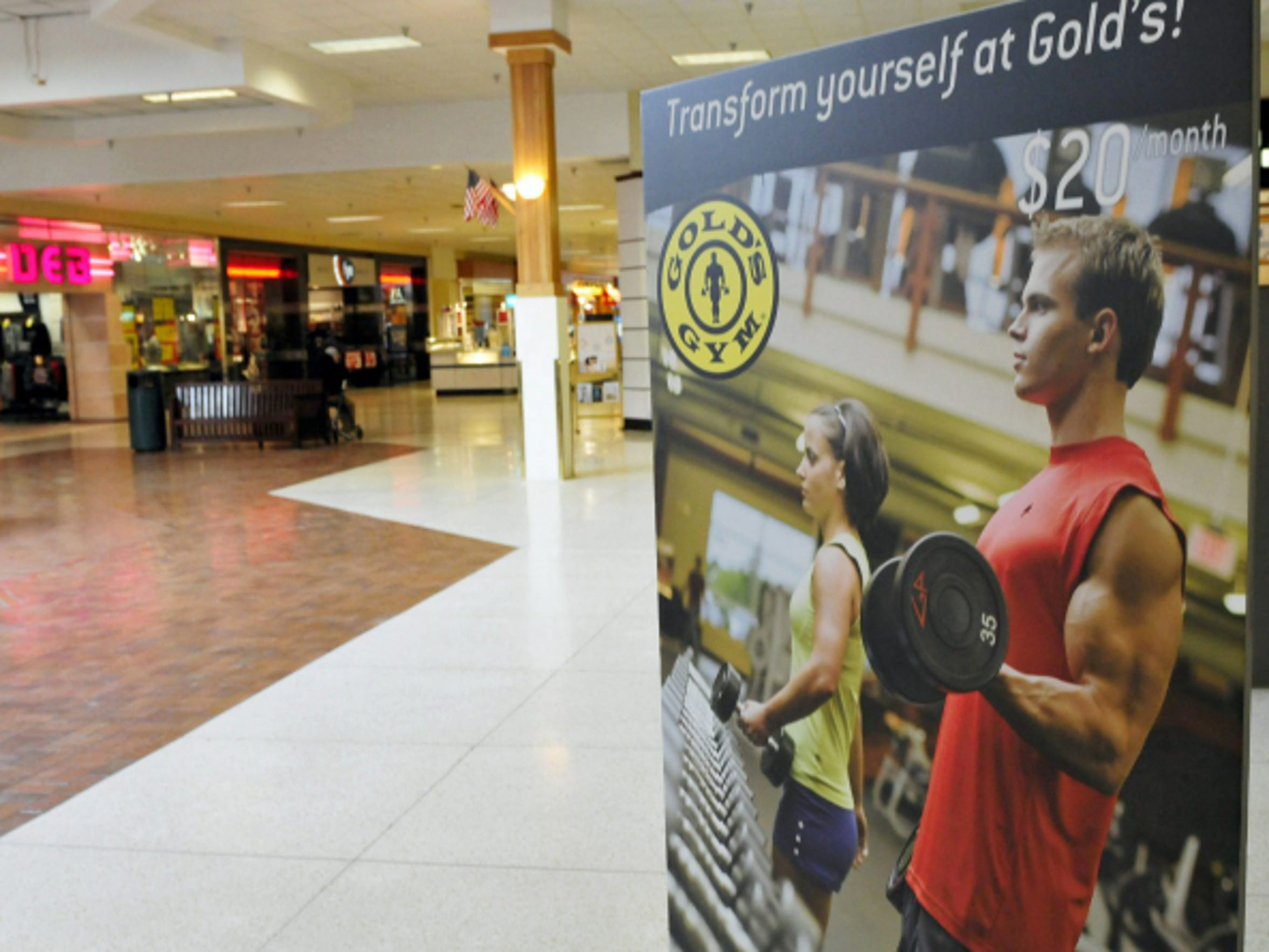 Gold's Gym opened in Chambersburg Mall in early 2015. It moved from its location in Southgate Shopping Center in Chambersburg.