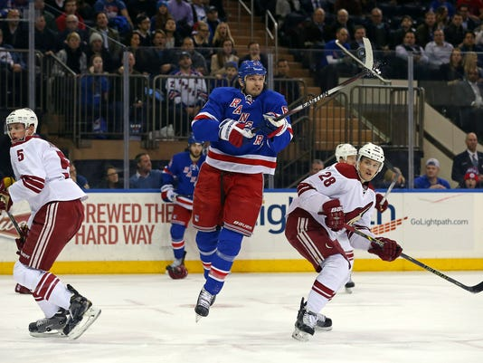 NHL: Arizona Coyotes at New York Rangers