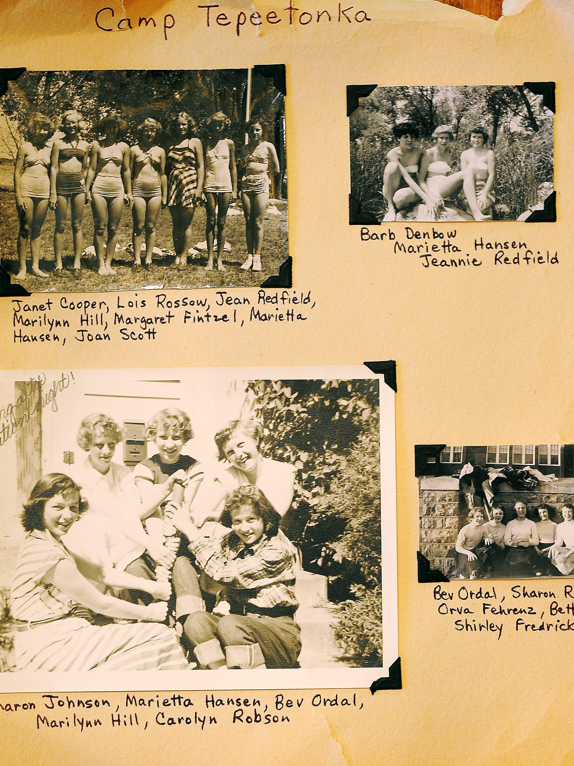 Scrapbook pages from Marilynn Viehweg, who went to