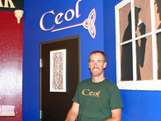 Ronald Patrick McCarty at his bar Ceol.