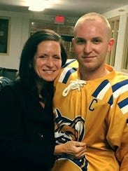 Andrew Lindsay and his mother Sheri.