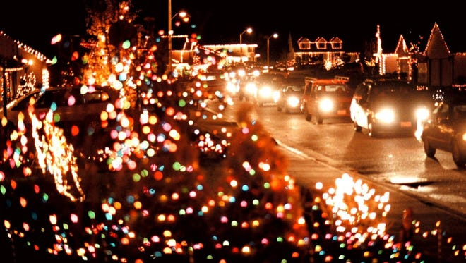 The Keizer Miracle of Christmas, a lights and decorations display, stretches through the Gubser neighborhood.