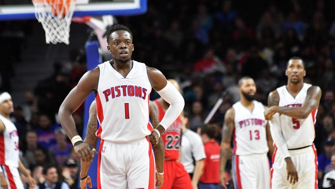 """""""This season, at times I felt good and I could get there — and other times, I felt like I was a shell of myself. I could see the gap and couldn't get there in time and couldn't explode there or as quick,"""" Pistons guard Reggie Jackson says."""