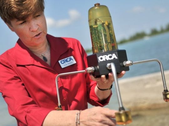 Edie Widder, CEO and senior scientist at the Ocean Research & Conservation Association in Fort Pierce, explains how a Kilroy water monitor works.