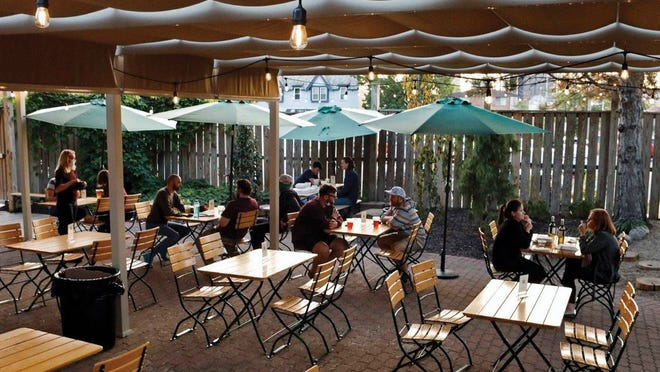 The patio at Gemüt Biergarten