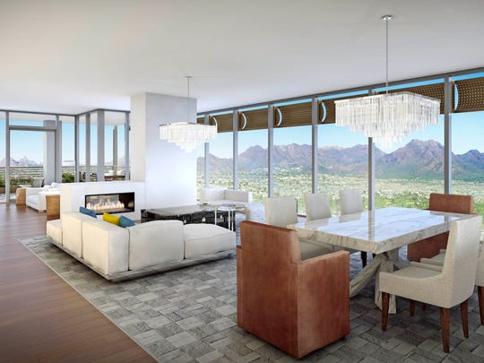 Renderings of Optima Kierland, a luxury condominium