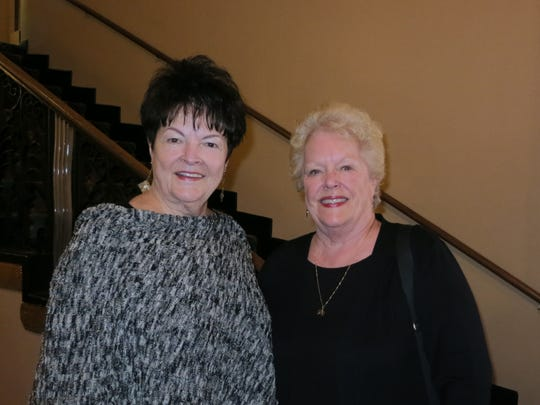 "Trish Clark of Anderson (left) and Kathie Burns of Shingletown attend the ""Gone with the Wind"" film party Feb. 12 at the Cascade Theatre in Redding."