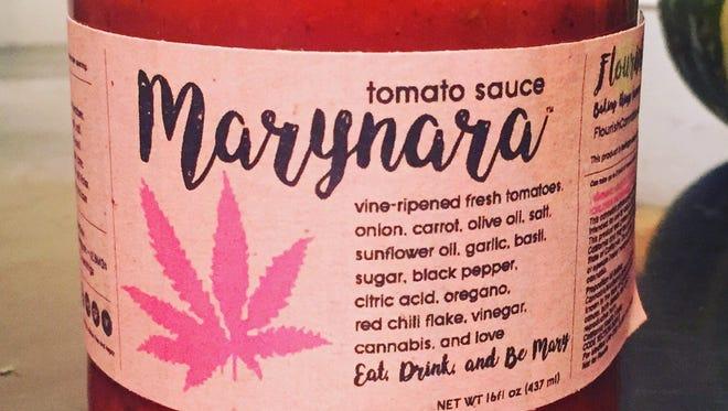 Flourish's edible marinara sauce.