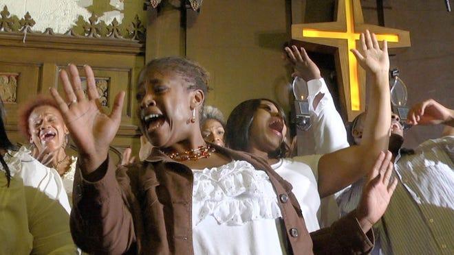 """Soprano Rosa Warner-Jones, center, in """"Let's Have Some Church Detroit Style."""""""
