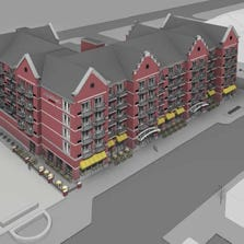 Rendering of the Courtyard by Marriott planned for Holland.
