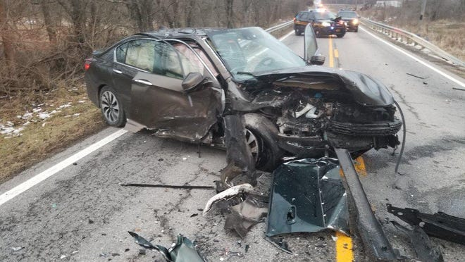 The scene of a fatal crash earlier this year in Union County. Although the overall crash rate for 2020 is down about 25% year-to-date in Ohio, fatalities are actually up.