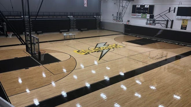 """Galesburg High School's John Thiel Gymnasium sits empty on Dec. 4, 2018. The Silver Streaks may not be able to play games this fall. Who knows what will happen as the coronavirus pandemic lingers and athletes slowly """"return to play."""""""