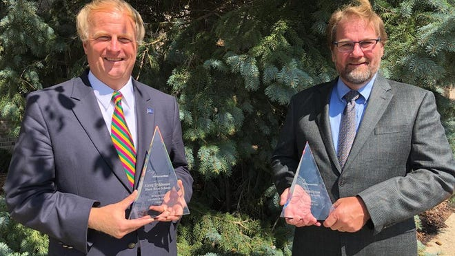 Black River teachers Greg Dkyhouse (left) and Peter Middleton (right) were honored as the 2020 Humanities Champions of the Year by Michigan Humanities.