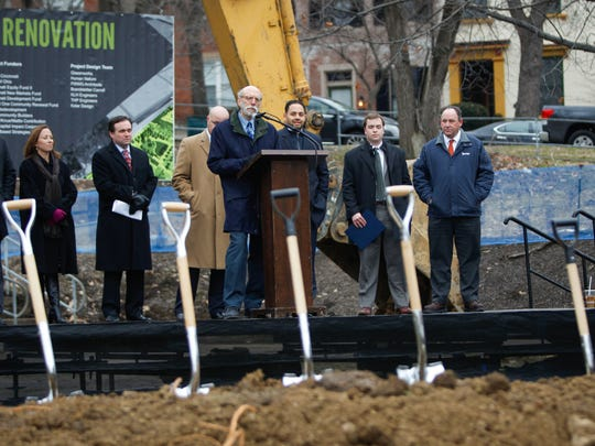 Donors and supporters of the Ziegler Park break ground for the $30 million renovation complete with a new pool, enhanced green space and a 400-car garage.