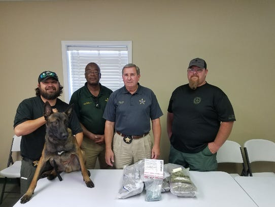 Inv. Trey Stokes, K-9 Brute, Major Frank Jones, Sheriff
