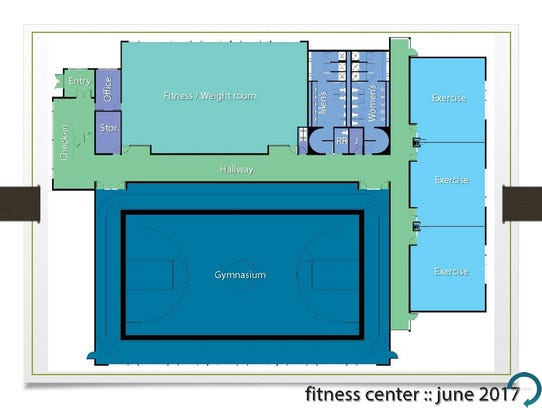 A rendering of a fitness center proposed for TMCC
