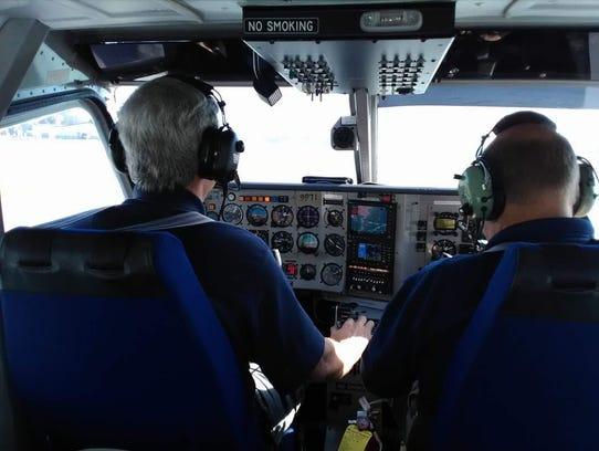 Photo caption: Georgia Wing Civil Air Patrol pilots