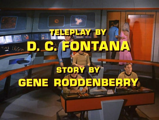5. A D.C. Fontana Star Trek screen credit