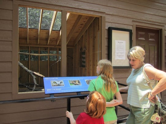 Live animal exhibits are part of the Dorothy Pecaut