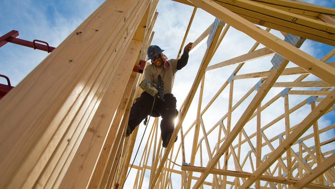 New-home permits ticked up slightly in March 2014 compared with February, but permits were down compared with March 2013.