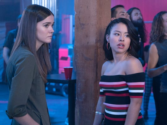 'The Fosters' stars Maia Mitchell, left, and Cierra