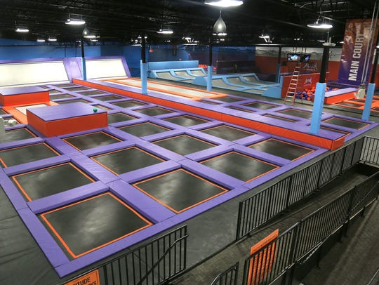 The main court of the Altitude Trampoline Park features