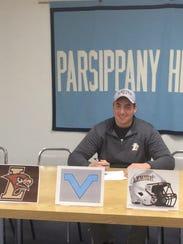 Parsippany Hills senior Justin Gurth signed a National